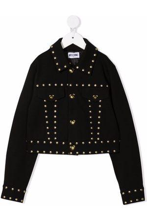 Moschino Teddy bear-motif studded jacket