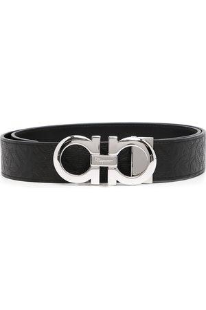 Salvatore Ferragamo Logo-buckle leather belt