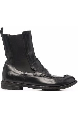 Officine creative Dames Laarzen - Lexicon leather loafer-style boots