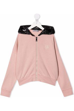 Moncler Meisjes Hoodies - Contrast-panel hoodie
