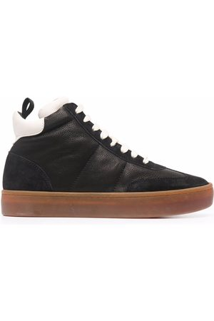 Officine creative Dames Sneakers - Kombined high-top leather trainers