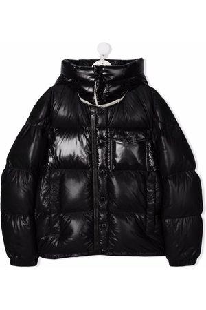 Moncler Jongens Donsjassen - High-shine logo-print puffer jacket