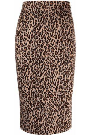 Pinko Leopard print pencil skirt