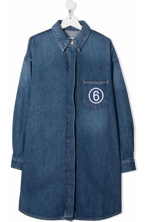 MM6 KIDS Meisjes Casual jurken - TEEN denim shirt dress