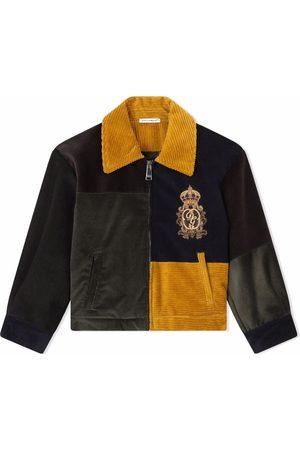 Dolce & Gabbana Colour-block corduroy jacket