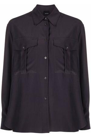 Aspesi Dames T-shirts - Two-pocket silk shirt