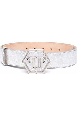 Philipp Plein Logo-plaque metallic belt