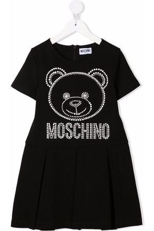 Moschino Meisjes Casual jurken - Teddy bear-motif studded dress