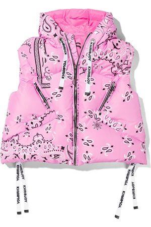 Khrisjoy KIDS Meisjes Bodywarmers - Bandana-print padded gilet