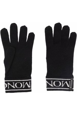 Moncler Logo-embroidered wool gloves