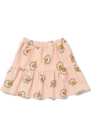 Bobo Choses Birdie tiered ruched skirt