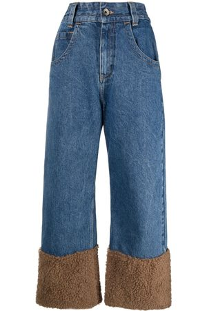 Opening Ceremony Contrast-cuff straight-leg jeans