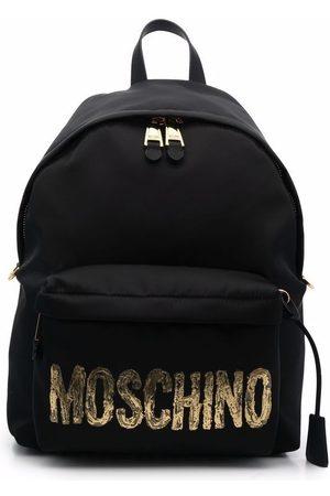 Moschino Heren Rugzakken - Metallic logo-plaque backpack