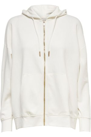 Only Dames Sweaters - Oversized Hoodie Dames White