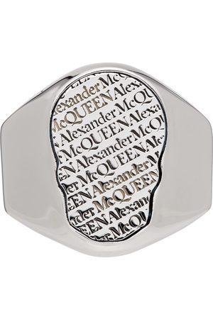 Alexander McQueen Silver Skull Tag Ring