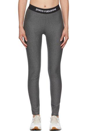 Paco rabanne Dames Leggings - Grey Logo Sports Leggings