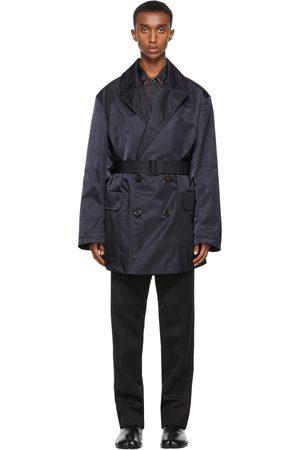 Maison Margiela Heren Korte jassen - Navy Nylon Trench Coat