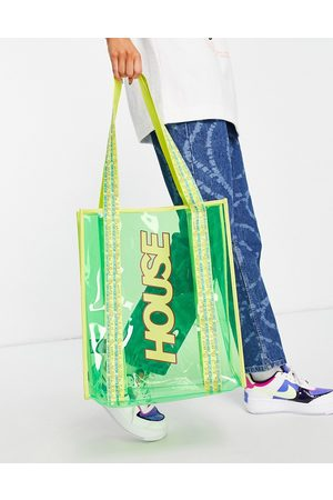 House of Holland Dames Pvc tote in green
