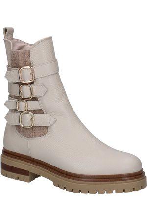 HAMPTON BAYS Dames Cowboy Boots - Agata Ecru Boots