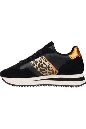 Cruyff Dames Sneakers - Solana Black Leopard Sneakers