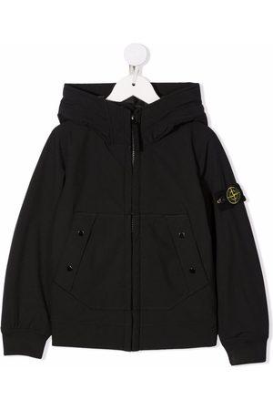 Stone Island Logo-patch zip-up padded jacket