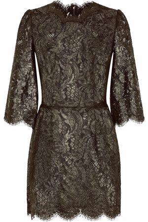 Dolce & Gabbana Dames Feestjurken - Floral-lace sheer minidress