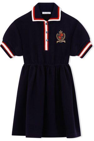 Dolce & Gabbana Stripe-trim polo dress