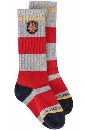 Dolce & Gabbana Logo-patch knit socks