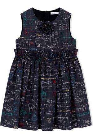 Dolce & Gabbana Algebra-print cotton dress