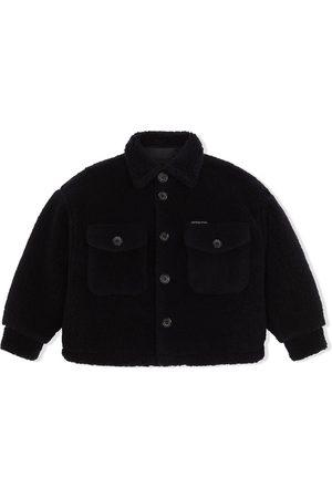 Dolce & Gabbana Button-up teddy coat