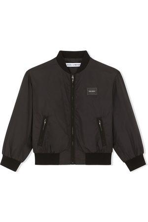 Dolce & Gabbana Logo-patch bomber jacket
