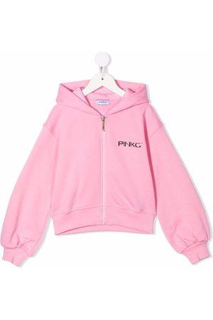 Pinko Kids Meisjes Hoodies - Logo-print cotton hoodie