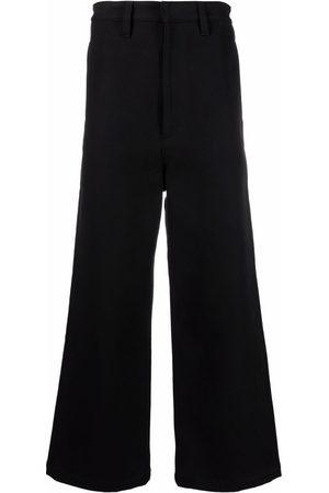 Ami Heren Bootcut - Logo patch wide-leg trousers