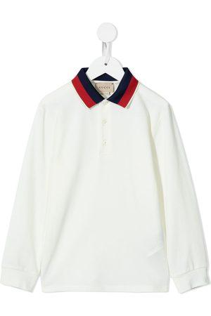 Gucci Contrasting-collar polo shirt