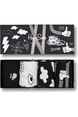 Happy Socks Sokken - 4-Pack Black And White Socks Gift Set