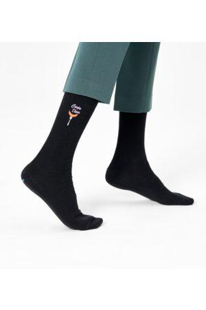 Happy Socks Sokken - Ribbed Embroidery Carpe Diem Sock