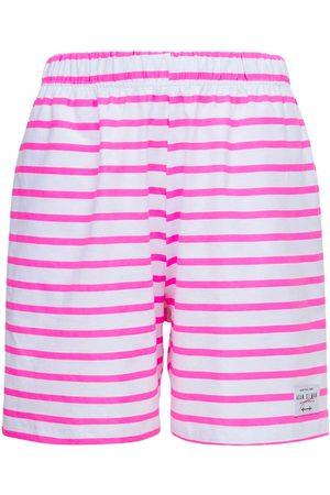 Adam Selman Sport Dames Korte broeken - Striped Cotton Gym Shorts