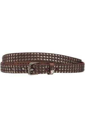 HTC Heren Riemen - 2cm Studded Leather Belt