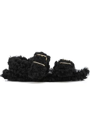 Marni Shearling-trimmed sandals