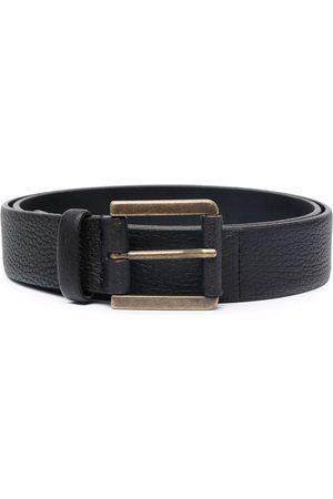 Pal Zileri Heren Riemen - Textured leather belt