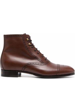 Gucci Heren Enkellaarzen - Brogue-detailed ankle boots