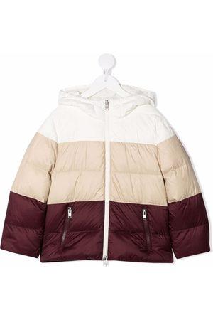 Brunello Cucinelli Jongens Donsjassen - Panelled hooded padded jacket