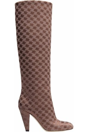 Fendi FF Karligraphy-motif boots