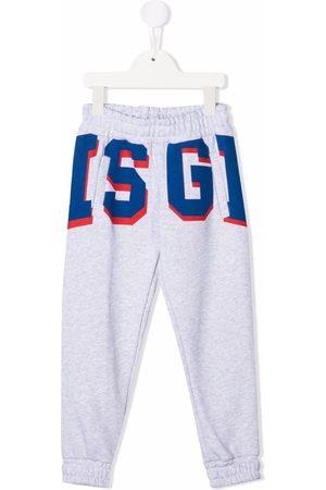 MSGM Kids Jongens Joggingbroeken - Logo-print track pants