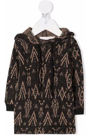 Zhoe & Tobiah Hoodies - Intarsia-knit long-sleeve hoodie