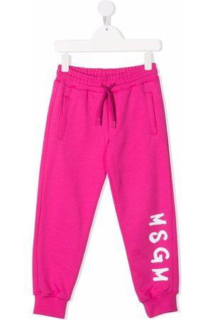 MSGM Kids Logo-print track pants