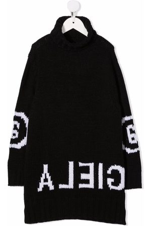 Maison Margiela Reverse intarsia-knit logo jumper