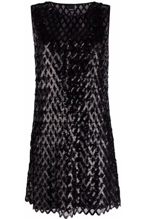 Pinko Dames Feestjurken - Sequin-embellished sleeveless minidress