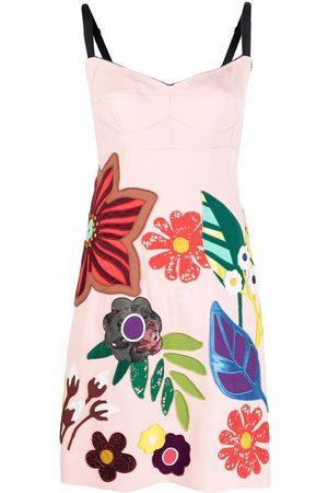 Dolce & Gabbana Floral-appliqué sleeveless dress