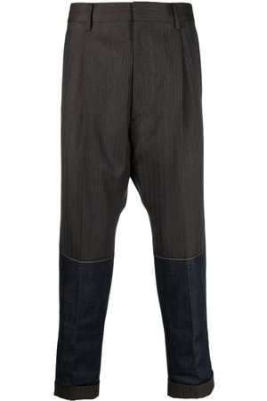 Dsquared2 Contrasting-panel tailored trousers